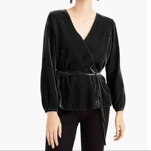 🆕 J. Crew velvet faux wrap around top
